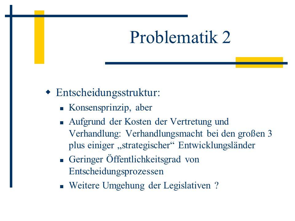 Problematik 2 Entscheidungsstruktur: Konsensprinzip, aber