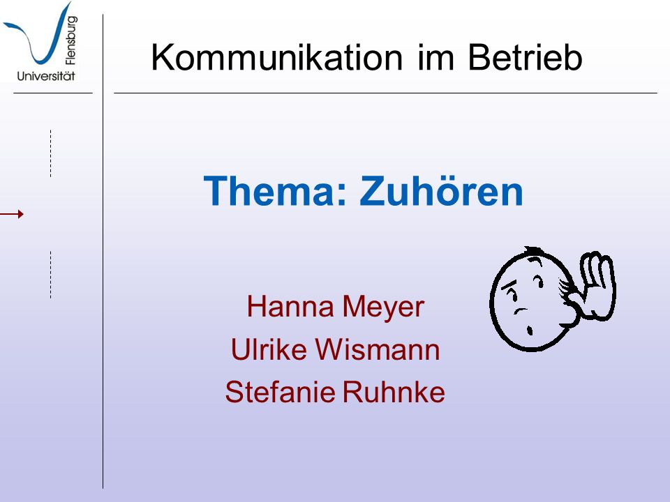 Hanna Meyer Ulrike Wismann Stefanie Ruhnke