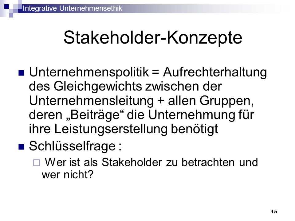 Stakeholder-Konzepte