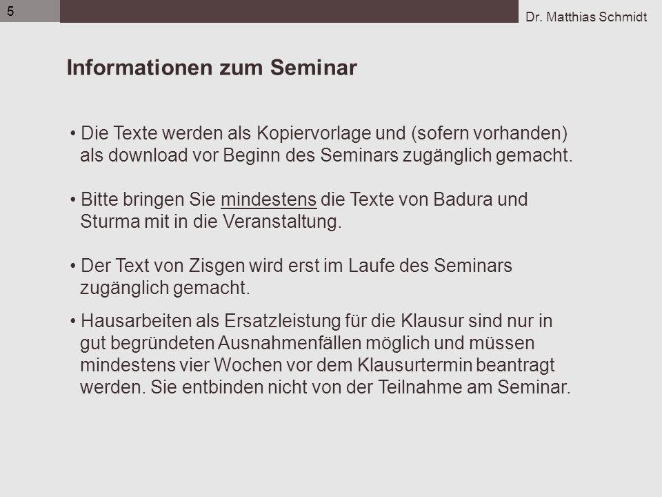 Informationen zum Seminar