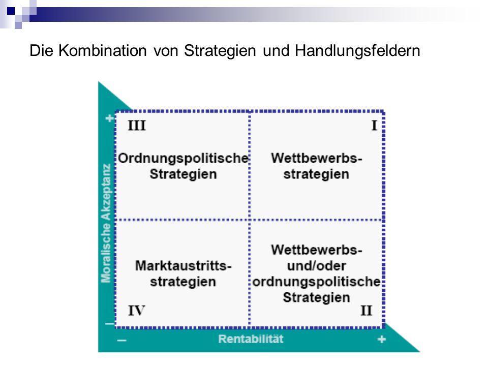 Die Kombination von Strategien und Handlungsfeldern