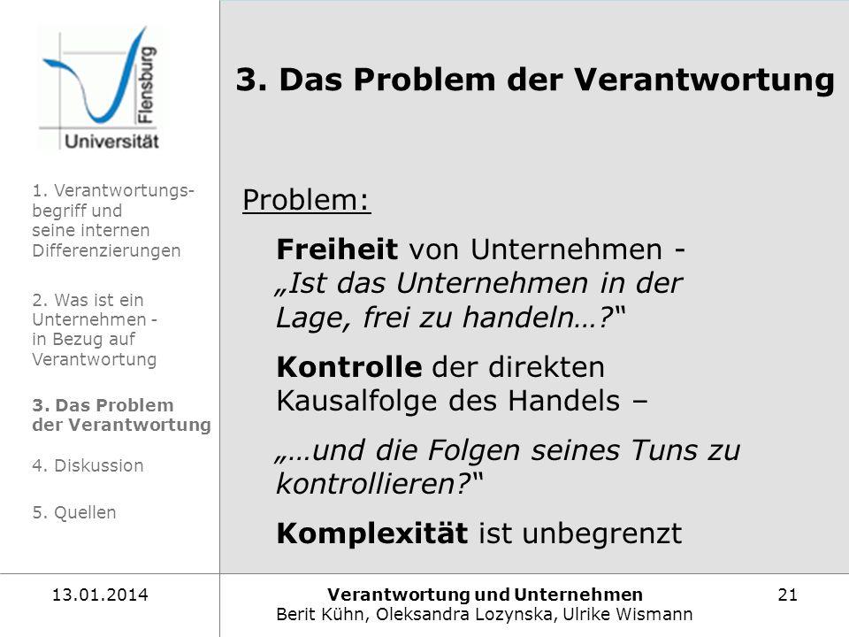 3. Das Problem der Verantwortung