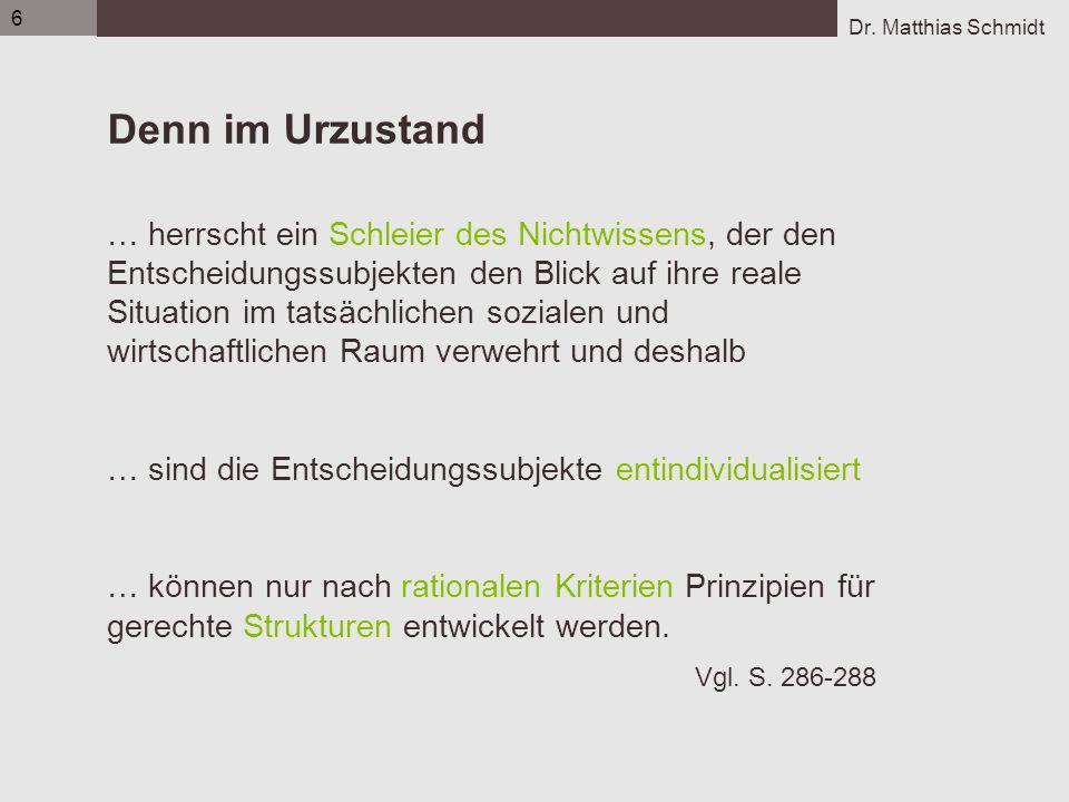6 Flens_UE1_Gerechtigkeit-Rawls_Struma_S6.ppt. Denn im Urzustand.