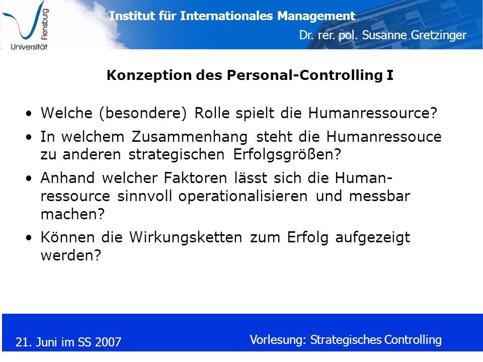 Konzeption des Personal-Controlling I