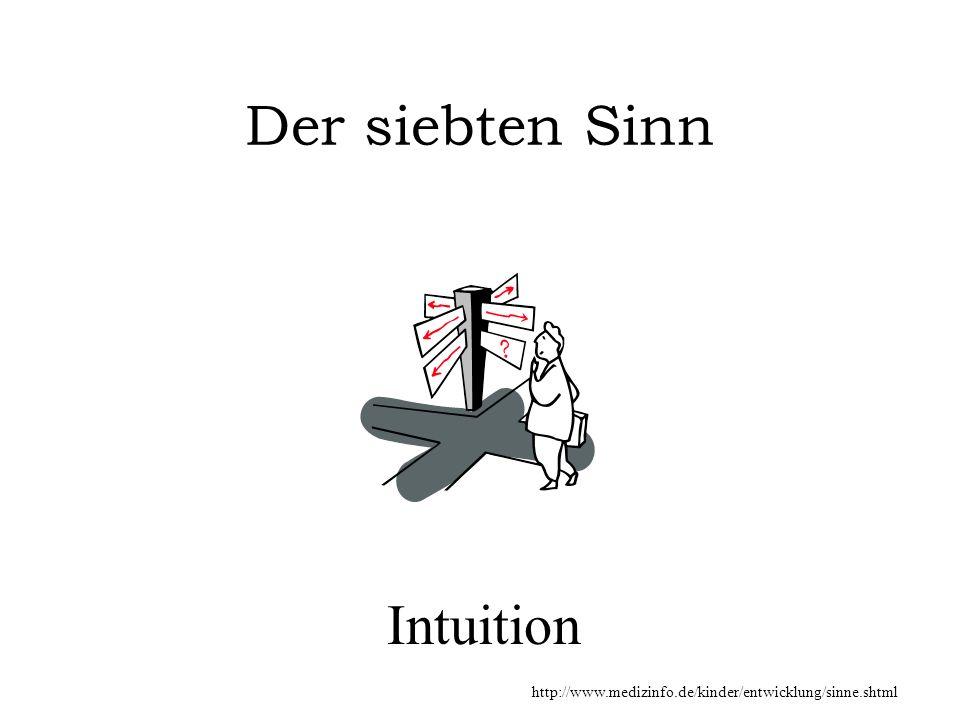 Der siebten Sinn Intuition