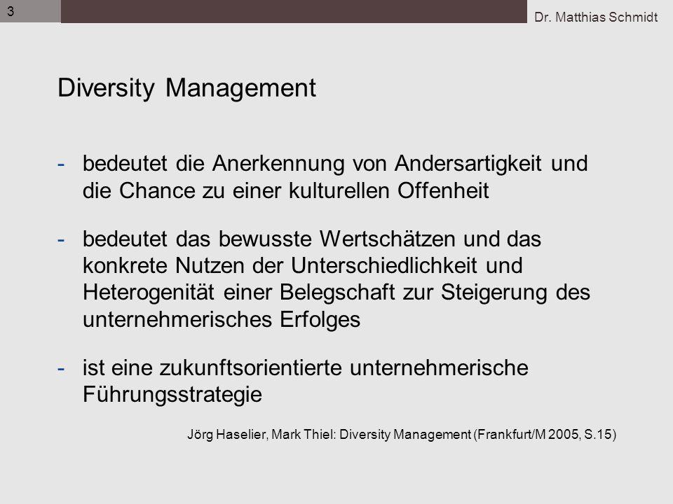 3 Diversity Management. bedeutet die Anerkennung von Andersartigkeit und die Chance zu einer kulturellen Offenheit.