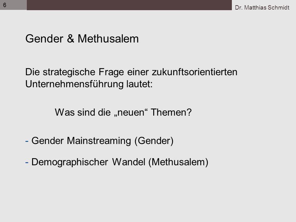 6 Gender & Methusalem. Die strategische Frage einer zukunftsorientierten Unternehmensführung lautet: