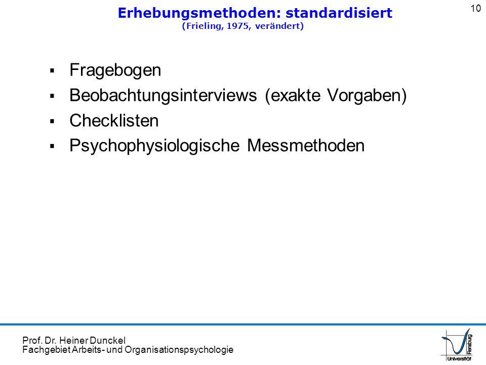 Erhebungsmethoden: standardisiert