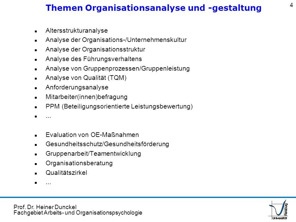 Themen Organisationsanalyse und -gestaltung