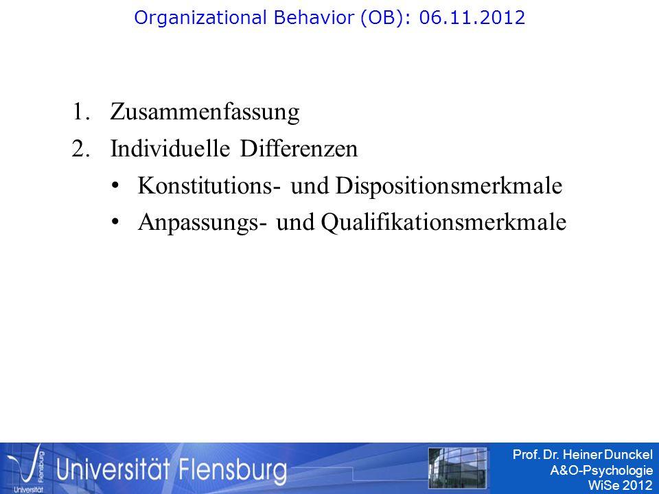 Organizational Behavior (OB): 06.11.2012