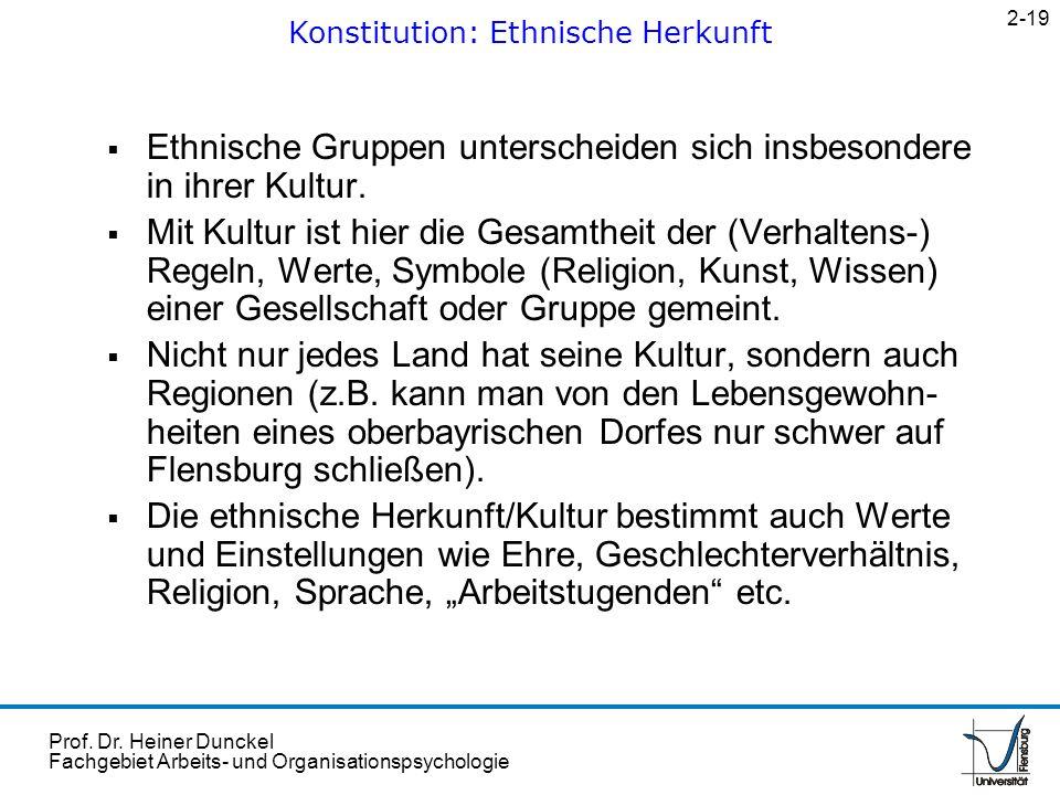 Konstitution: Ethnische Herkunft