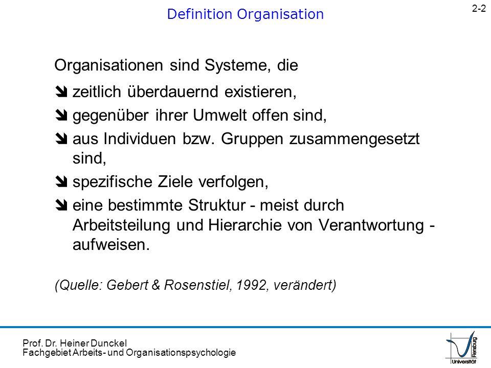 Definition Organisation