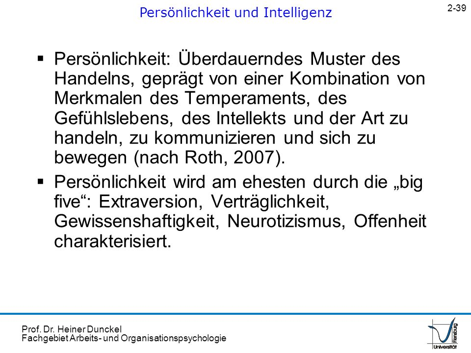 Persönlichkeit und Intelligenz