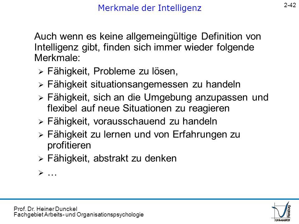 Merkmale der Intelligenz