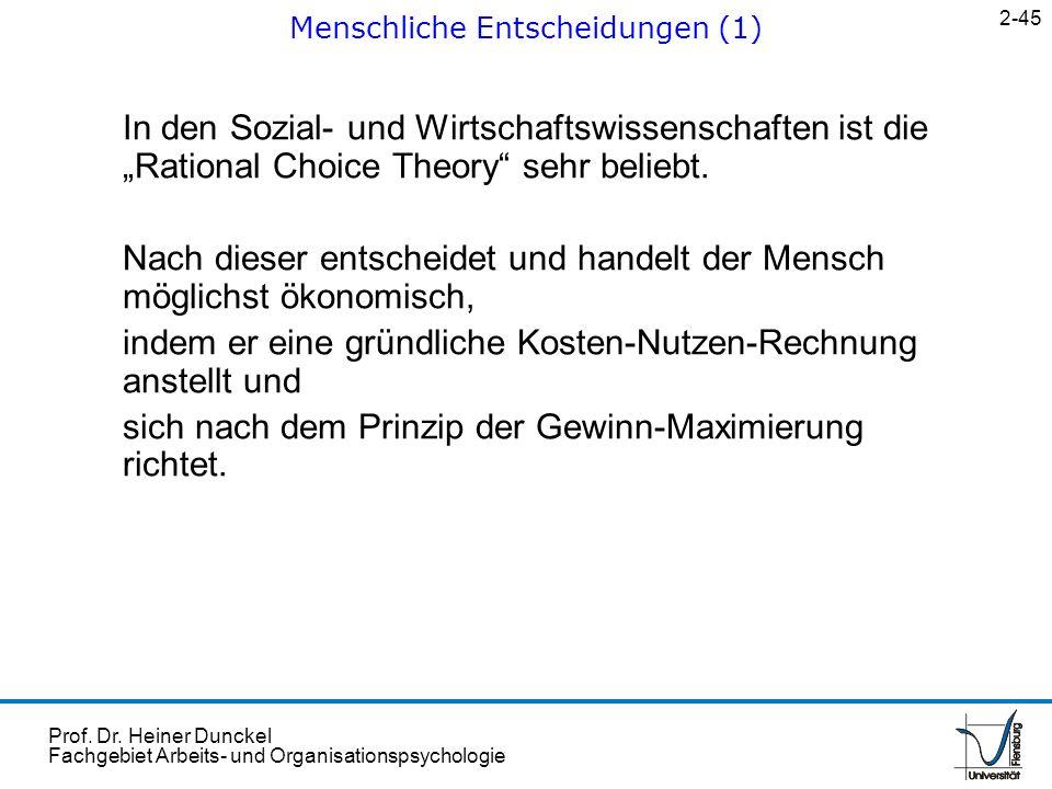 Menschliche Entscheidungen (1)
