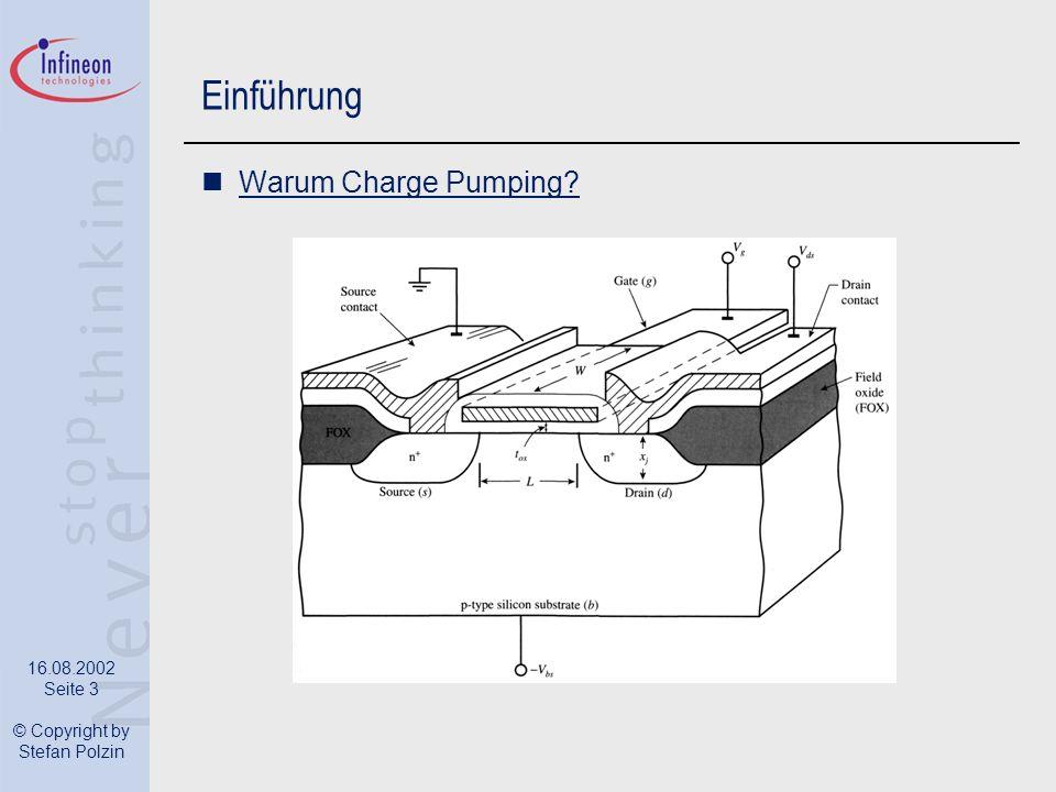 Einführung Warum Charge Pumping