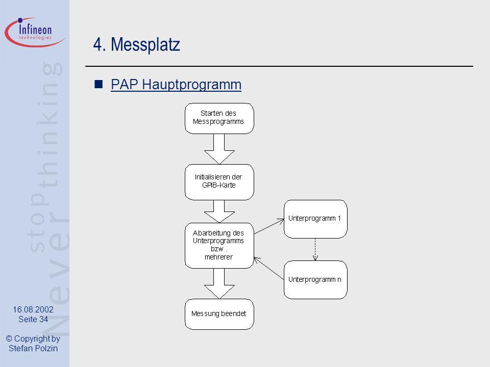 4. Messplatz PAP Hauptprogramm