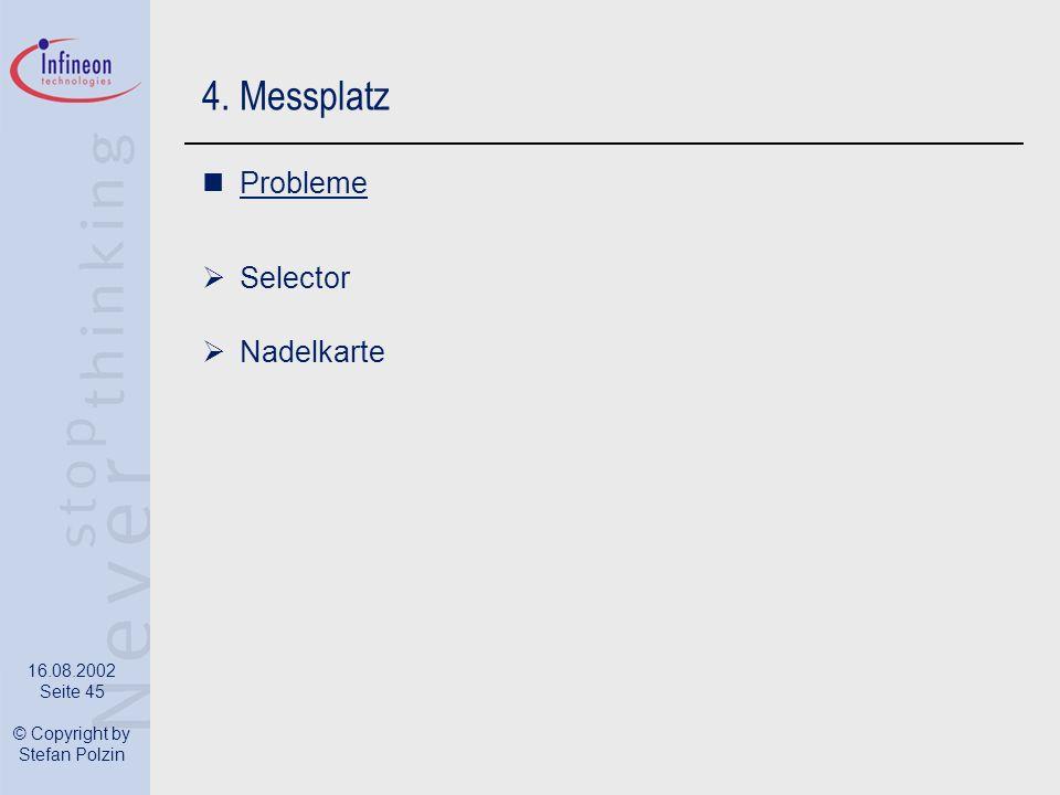 4. Messplatz Probleme Selector Nadelkarte