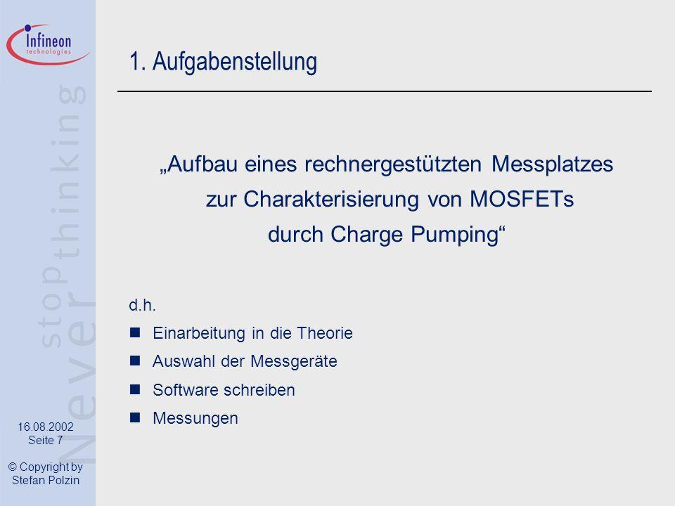 """1. Aufgabenstellung """"Aufbau eines rechnergestützten Messplatzes"""