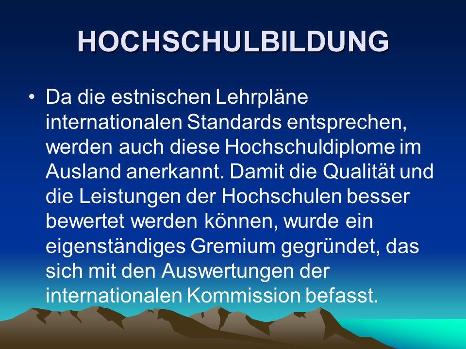 HOCHSCHULBILDUNG