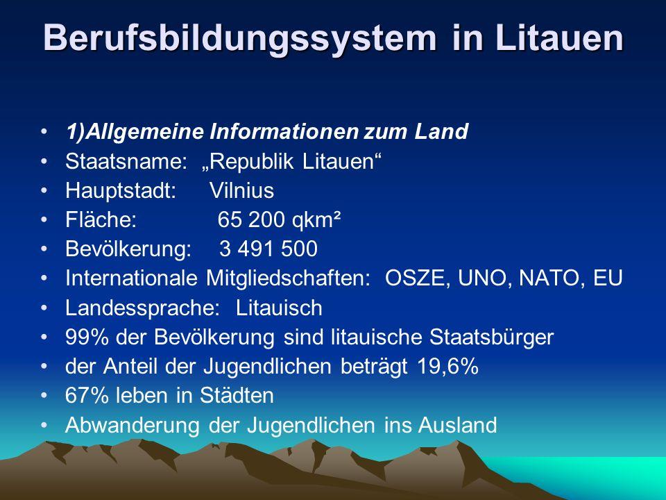 Berufsbildungssystem in Litauen