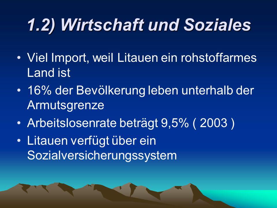 1.2) Wirtschaft und Soziales