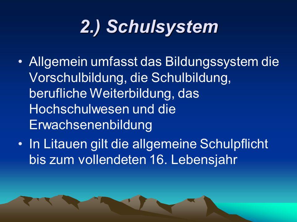 2.) Schulsystem