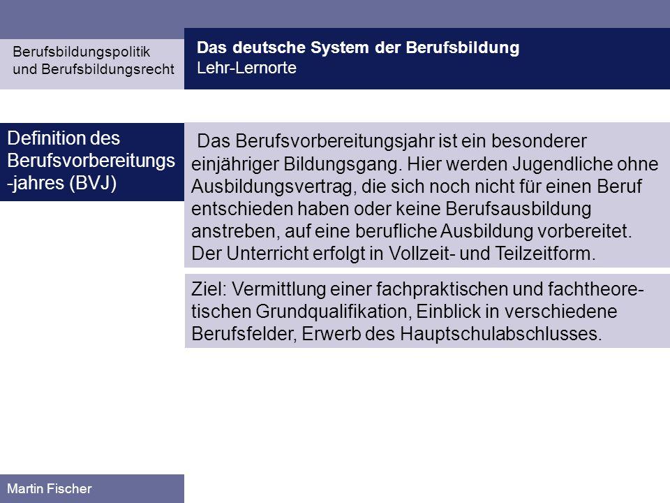 Das deutsche System der Berufsbildung
