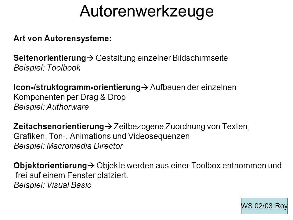 Autorenwerkzeuge Art von Autorensysteme: