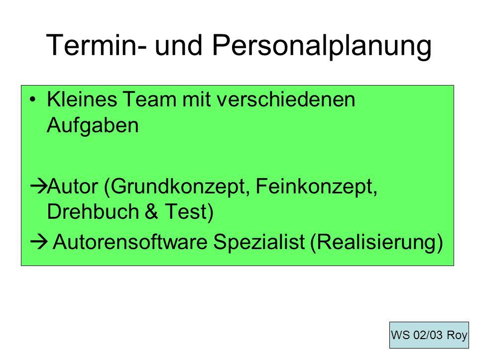 Termin- und Personalplanung