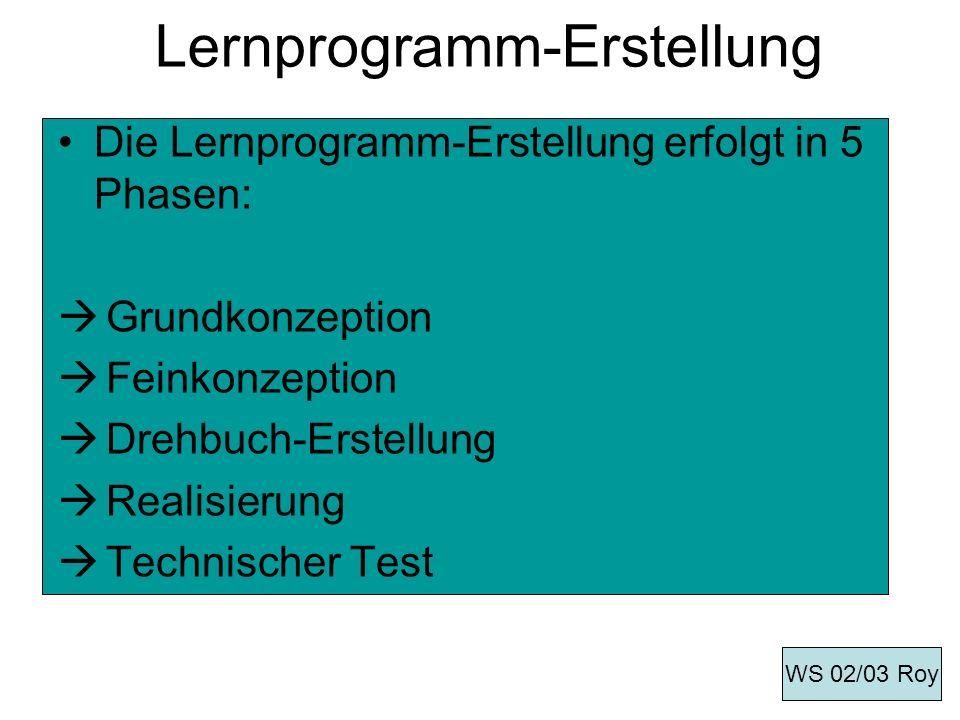 Lernprogramm-Erstellung