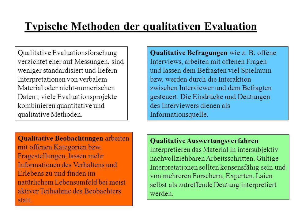 Typische Methoden der qualitativen Evaluation