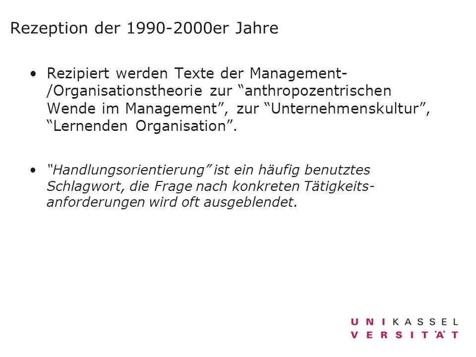 Rezeption der 1990-2000er Jahre