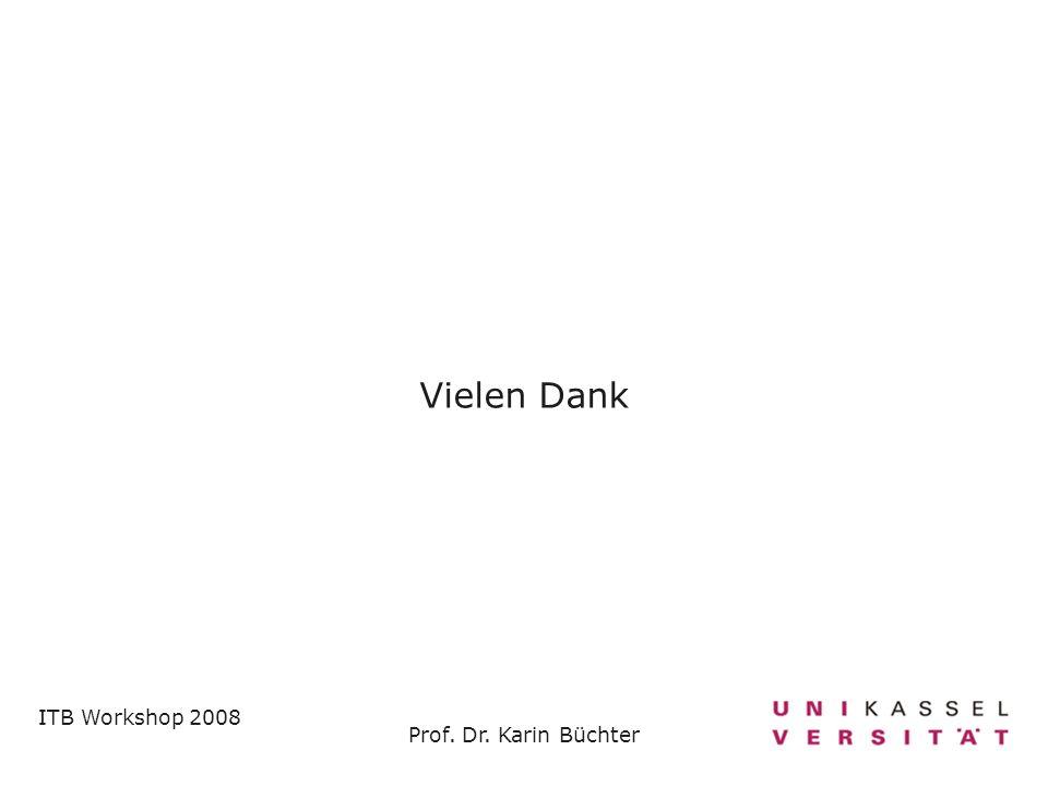 Vielen Dank ITB Workshop 2008 Prof. Dr. Karin Büchter