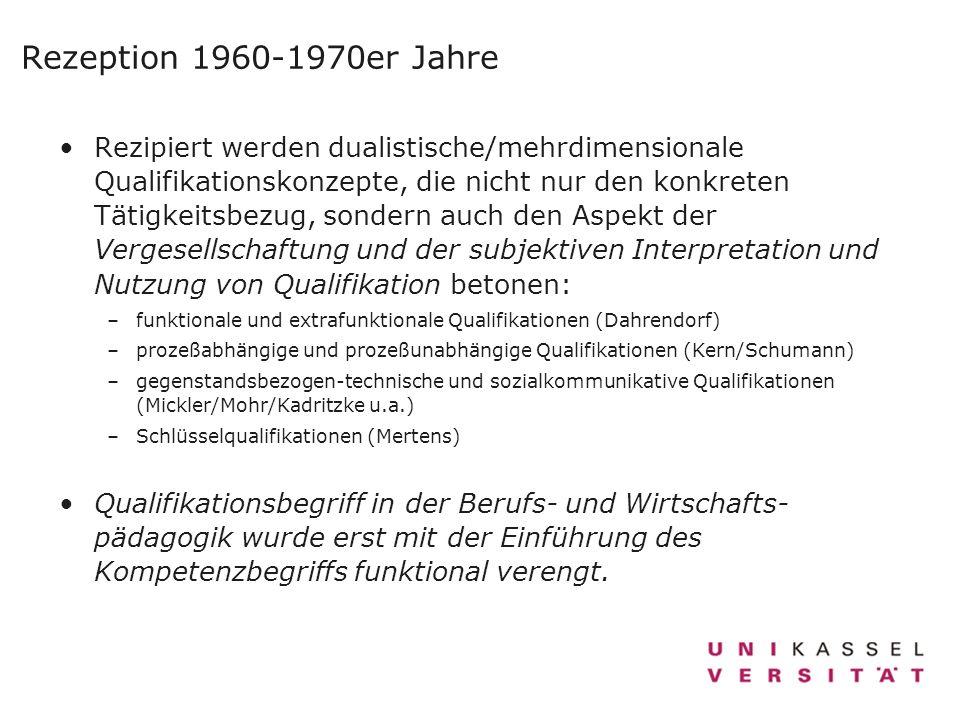 Rezeption 1960-1970er Jahre