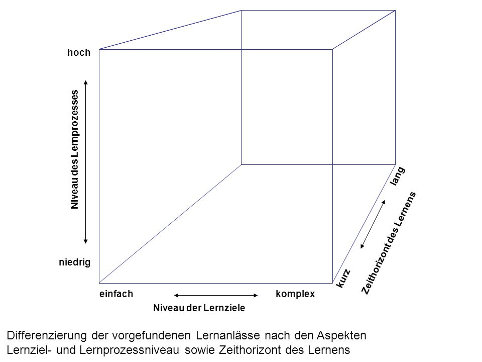 Differenzierung der vorgefundenen Lernanlässe nach den Aspekten
