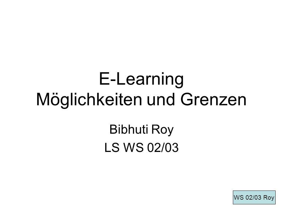 E-Learning Möglichkeiten und Grenzen