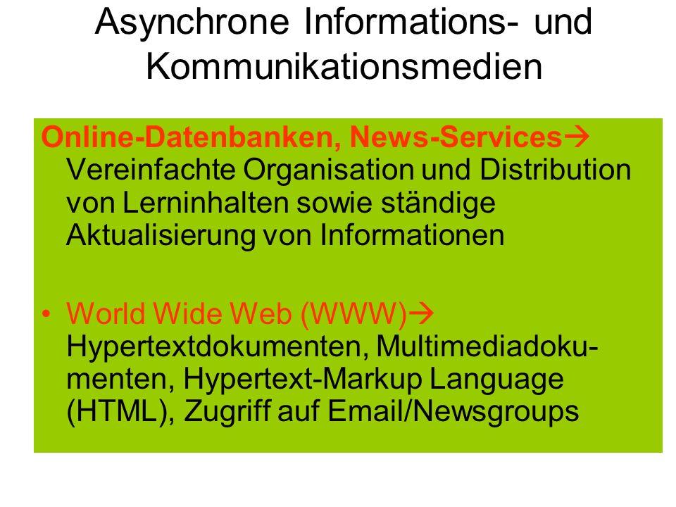 Asynchrone Informations- und Kommunikationsmedien