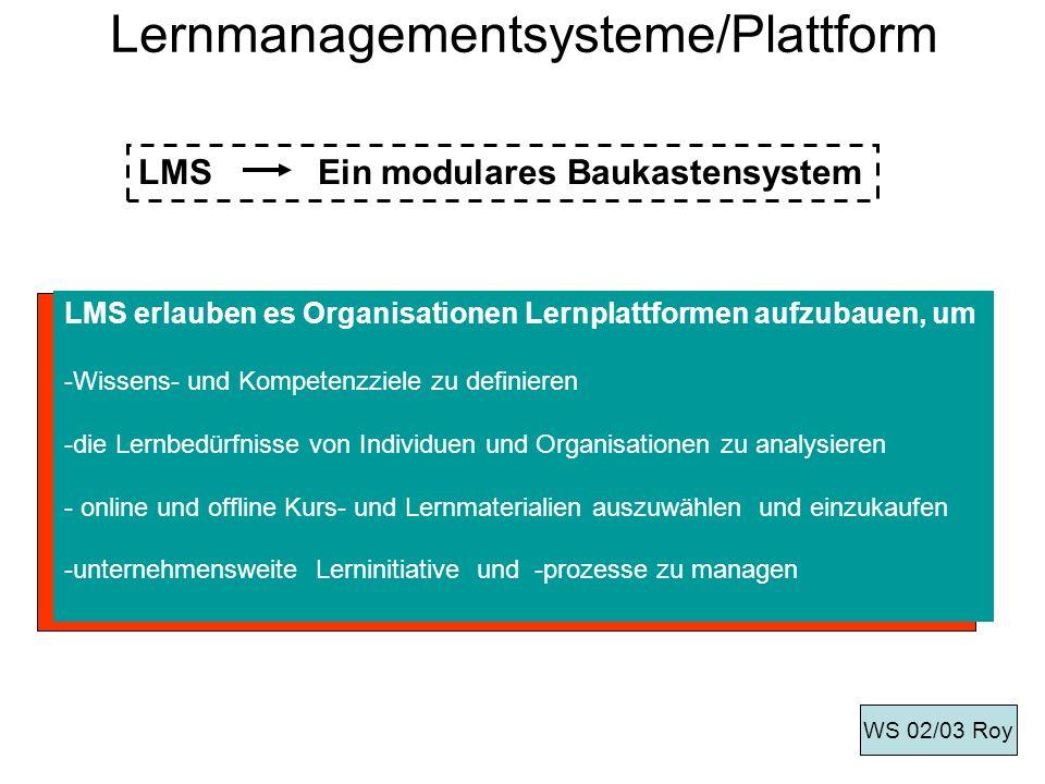 Lernmanagementsysteme/Plattform
