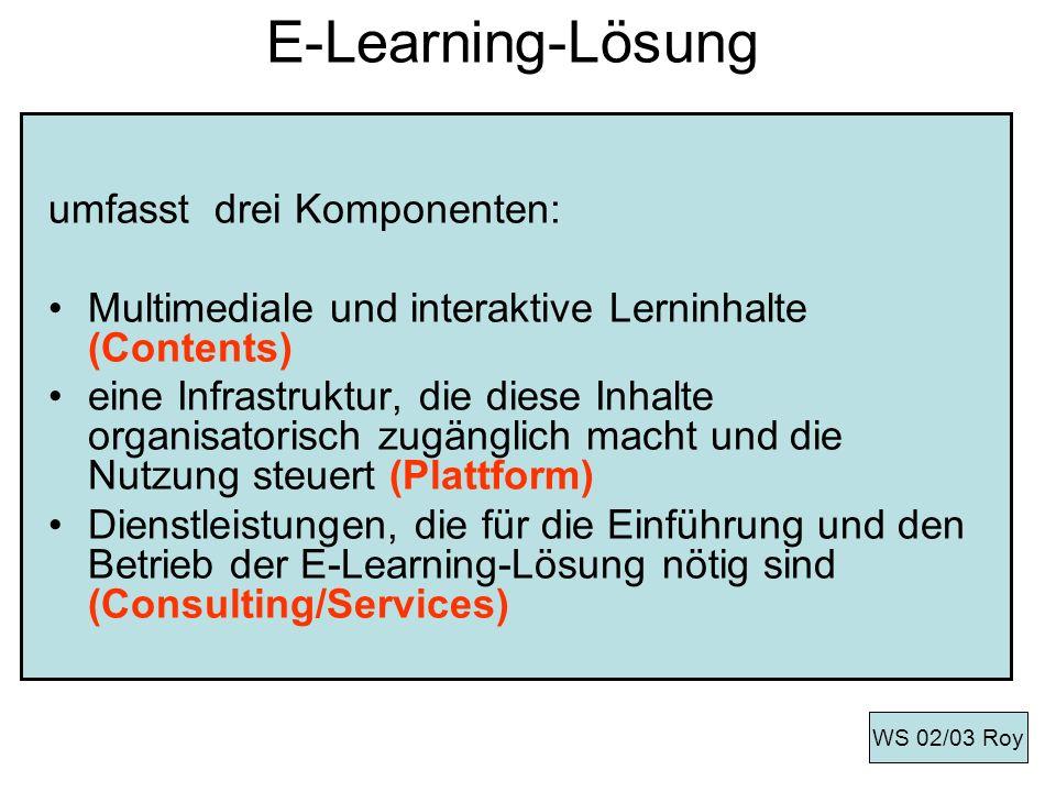 E-Learning-Lösung umfasst drei Komponenten:
