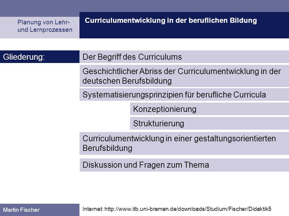 Der Begriff des Curriculums