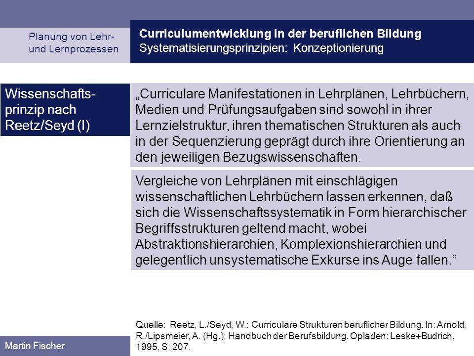 Wissenschafts-prinzip nach Reetz/Seyd (I)