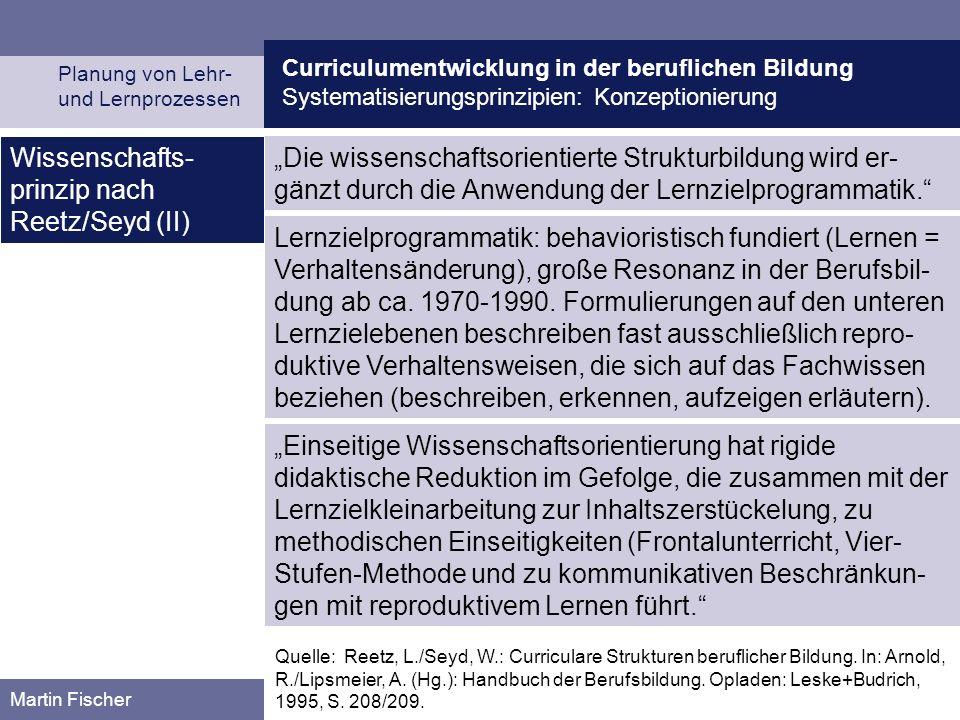 Wissenschafts-prinzip nach Reetz/Seyd (II)