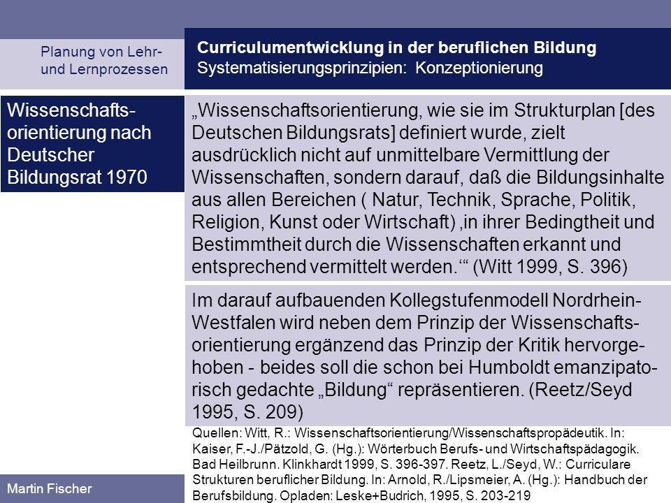 Wissenschafts-orientierung nach Deutscher Bildungsrat 1970