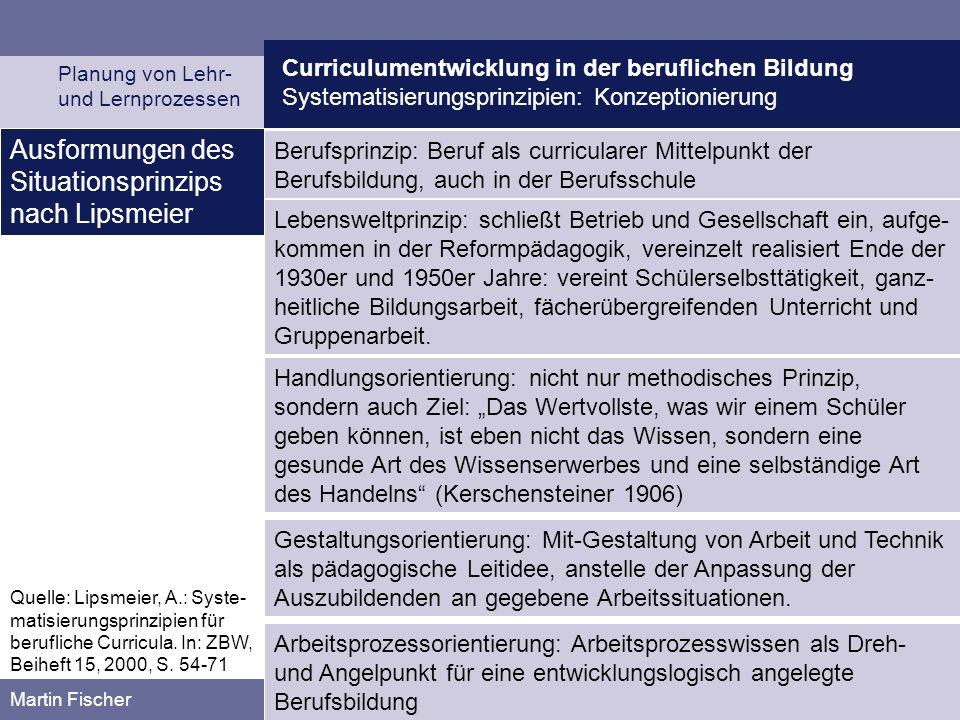 Ausformungen des Situationsprinzips nach Lipsmeier