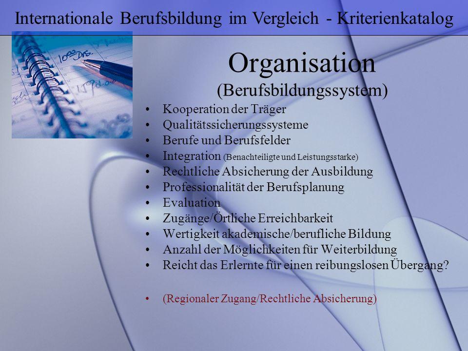 Organisation (Berufsbildungssystem)