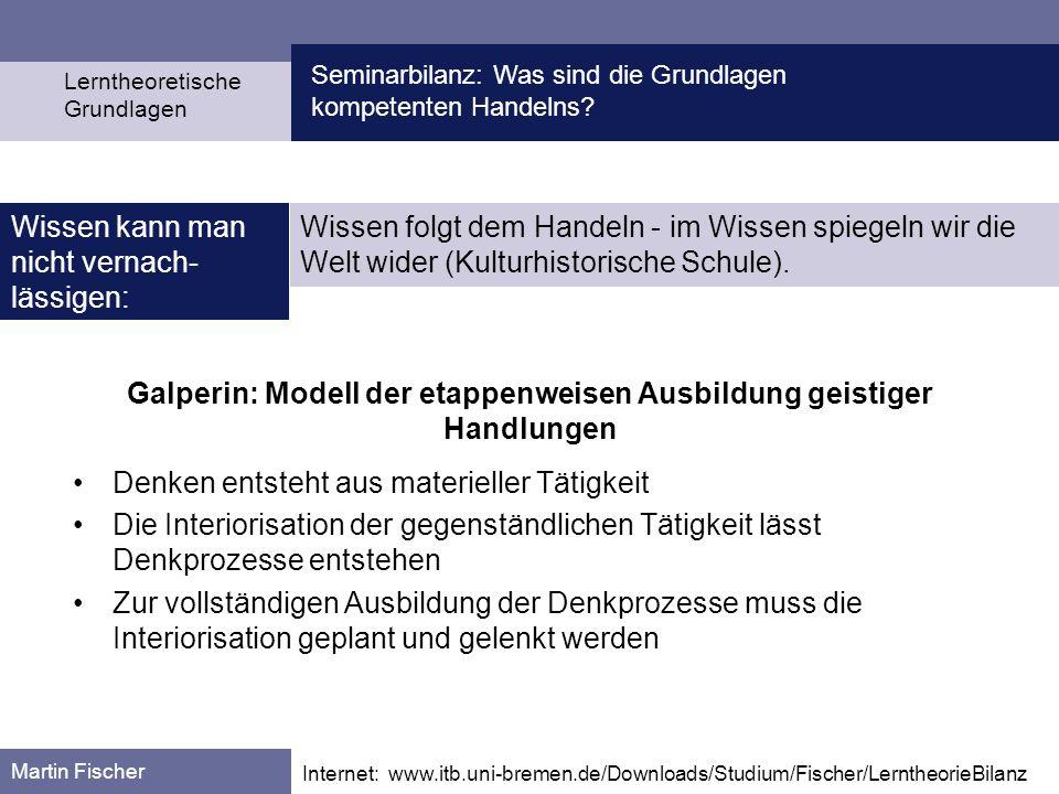Galperin: Modell der etappenweisen Ausbildung geistiger Handlungen