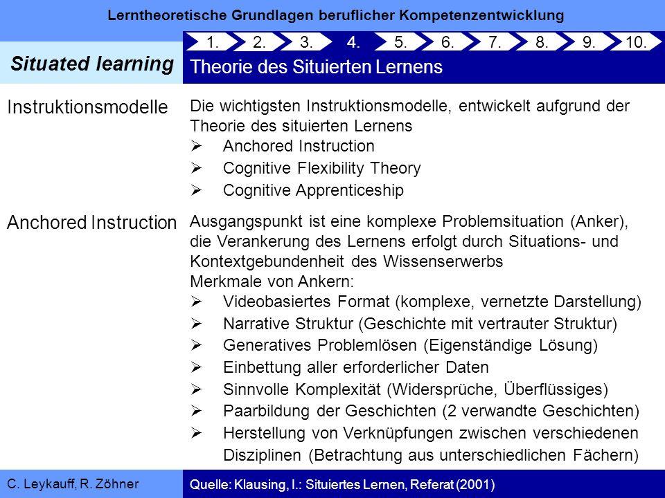 Theorie des Situierten Lernens