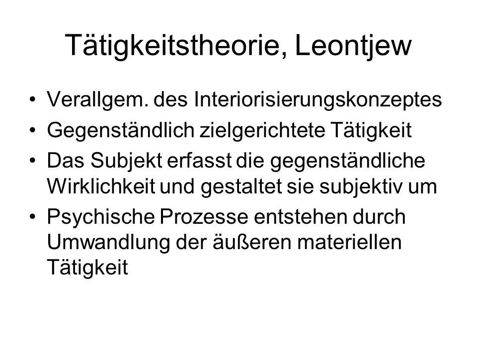 Tätigkeitstheorie, Leontjew