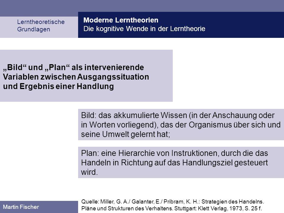 Moderne Lerntheorien Die kognitive Wende in der Lerntheorie. Lerntheoretische. Grundlagen.